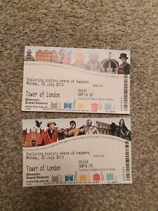 Tower Of London Souvenir Tickets