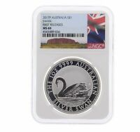 2017 Australian Silver Swan 1oz .9999 Silver Coin - NGC MS69 FIrst Releases