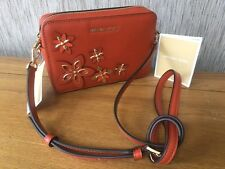 MICHAEL KORS ORANGE LEATHER SHOULDER CROSSBODY CLUTCH BAG BNWT RETAIL £170