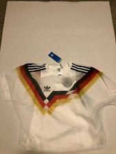 New Adidas GERMANY Soccer Jersey #10 Layer Tee Women XL  1992 Retro