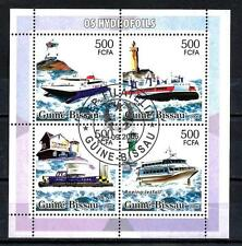 Bateaux Guinée Bissau (96) série complète de 4 timbres oblitérés
