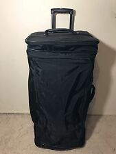 RARE Black LONGCHAMP 2 Piece Nylon Convertible Luggage Travel Duffle Bag Set