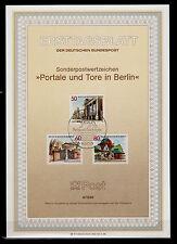 Berlin BRL 1986 MiNr. 761-763, ESSt  ETB 8 / 1986 Portale und Tore in Berlin