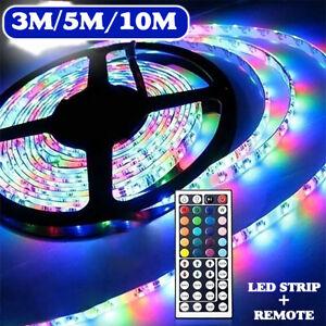 12V 3/5/10M 3528 SMD RGB 600 LED String Strip Light +44 Key IR Remote Controller