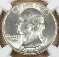 1949 D Washington Quarter MS 64 NGC Nice Coin 5/16-33
