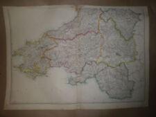 Glamorgan 1800-1899 Date Range Antique Europe Sheet Maps