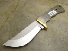 Fixed Blade Blank for Knife Makers Full Tang with Brass Finger Guard