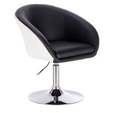 Barsessel Drehsessel Sessel mit Lehne Kunstleder 2 farbig Schwarz+Weiß BH10szw