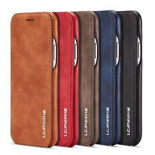 Handyhülle Flip Case Leder Wallet Etui Hülle Tasche für iPhone Samsung S7 S8 S9
