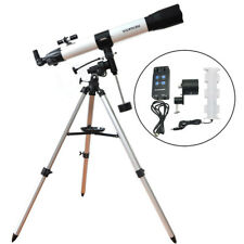 Visionking 80mm Refractor Astronomical Telescope Star Planet Finder + motor