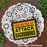 Mini Sign PROTECTED BY ATTACK DACHSHUNDS *PLURAL Door Hanger Ornament DecoWords
