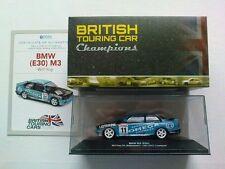 ATLAS EDITIONS 1/43 BRITISH TOURING CAR & PIN . 1991 BMW (E 30) M3 FULL CASE
