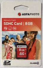 AgfaPhoto 8GB SDHC Memory Card Speicherkarte Class 4 Original NEU & OVP