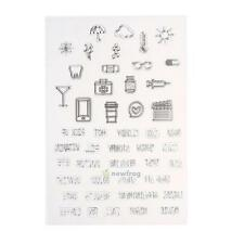 Silicone Clear Rubber Stamps Seals Scrapbooking Photo Album Card Decor DIY Craft