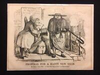 Catholic Art - Punch The London Charivari Cartoon - Proposal for New Year