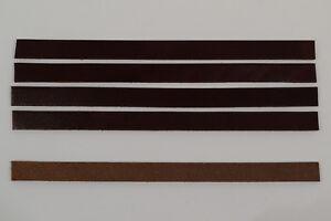 "Leather Strip - Burgundy Latigo - 1/2"" x ~9"" - Pack of 12 (A7)"