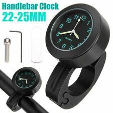 7/8 '' Schwarz Motorraduhr Uhr Uhren Clock Wasserdicht für Lenkeruhr Fahrrad NEU