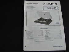 Original Service Manual Fisher MT-872R