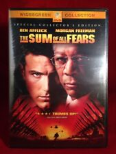 Sum of All Fears (DVD, Morgan Freeman, Collector Edition) BRAND NEW, SEALED.