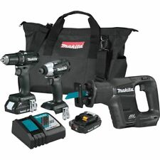 Makita 18V LXT Lithium-Ion Sub-Compact Brushless Cordless 3-Piece Combo Kit NEW