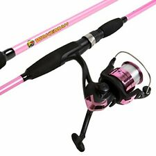 Wakeman Strike Series Spinning Rod and Reel Combo - Hot Pink