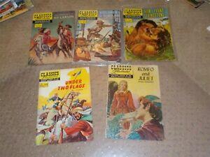 Lot Of 5 Classics Illustrated Comic Books #86