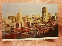 San Francisco at Dusk - Vintage Postcard