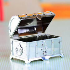 12pcs Plastic Treasure Chest Candy Box Wedding Birthday Party Favour Silver