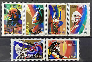FRANCE - MUSICIANS - LOT OF 6 MNH STAMPS