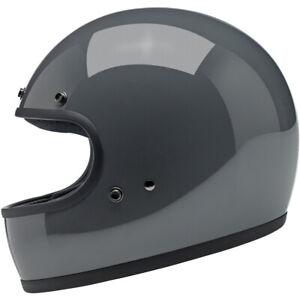 Biltwell Gringo DOT / ECE Motorcycle Helmet - Gloss Storm Grey - CHOOSE SIZE