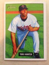 2005 TORII HUNTER Bowman Heritage #149 (Twins) DEFECT NO BACK SIDE MISPRINT