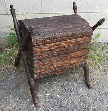 RARE BLACK FOREST CARVED TRUNK