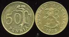 FINLANDE 50 pennia 1978  ( bis )