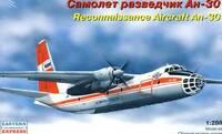 Antonov An-30 Aeroflot RF Aufklärer Aufklärungsflugzeug 1:288 Modell-Bausatz kit