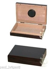 5 Cigar Mahogany Finish Travel Humidor w/ Humidifier