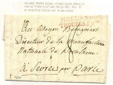 NEDERLAND BRIEF  1801 NAAR PARIJS =HOLLANDE TROUPES FAISES =ZELDZAAM