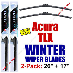 WINTER Wiper Blades 2-Pack Premium - fit 2015+ Acura TLX Wipers - 35260/170
