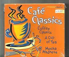 CAFE CLASSICS (2000, 3 CD) BRAND NEW: Bach, Mozart, Vivaldi & More: 3 Hours