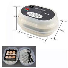 12 Eier Brutgerät Automatische Brutmaschine Flächenbrüter Inkubator Brüter DE01