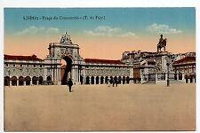 PORTUGAL LISBOA Lisbonne praça do commercio carte couleur