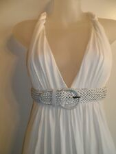 Sky Clothing Brand M Dress White Leather Belted Grecian Party Club Sexy Cocktail