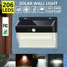 1pc 206 LED Solar Luz de Pared Impermeable Sensor de Movimiento Lámpara Exterior