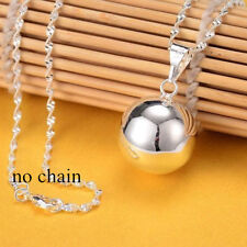 Fashion Jingle Bell Silver Round Bell Ringing Pendant Necklace Jewelry No Chain