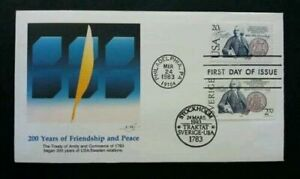 [SJ] USA Sweden Joint Issue 200 Years Of Friendship And Peace 1983 (joint FDC)