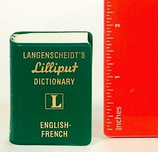 MINIATURE BOOK 1961 Langenscheidt's LILLIPUT Dictionary ENGLISH FRENCH Paperback