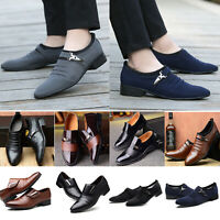 Men's Oxfords Leather Dress Shoes Formal Business Tuxedo Party Casual Loafers