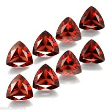 8 Pcs Wholesale Lot 5mm Trillion Cut Mozambique Garnet Loose Calibrated Gemstone
