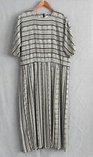 Vtg Brownstone Studio Dress Short/Bat-Wing Sleeve Mid-Calf Pleated Skirt Size 10