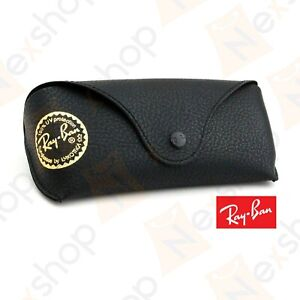 Rayban Sunglasses Eyeglasses Optical Soft Leather Black Case with Cleaning Cloth