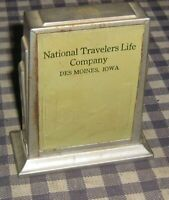 Vintage Coin Book Bank,Safe, National Travelers Life Company, Des Moines, Iowa